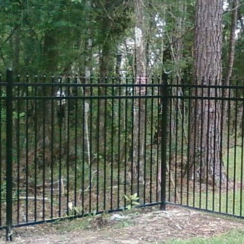 aluminum residential fence