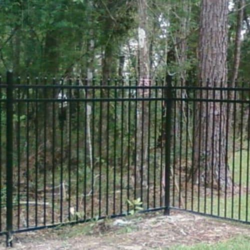 aluminum residential fence