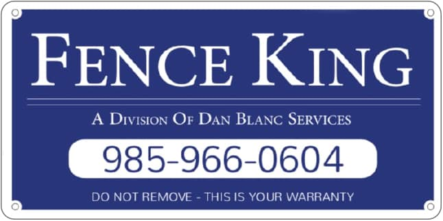 Fence King Warranty