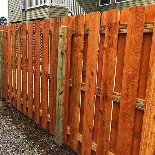 western red cedar residential fence