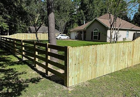 Custom Built Presure-Treated Pine Fence | Mandeville Fence Company