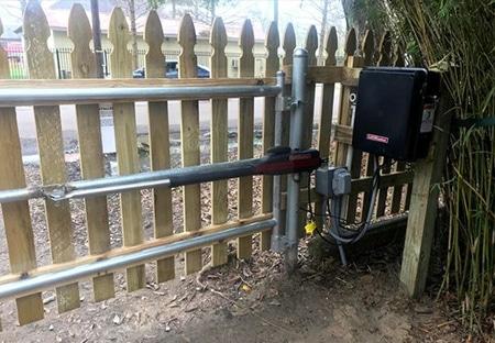 Motorized Gate Opener by LiftMaster | Mandeville Fence Company