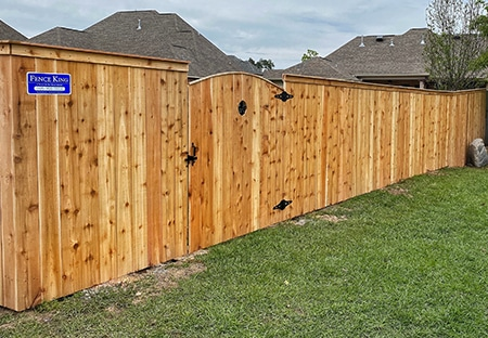 8ft Wood Privacy Fence in Lacombe LA